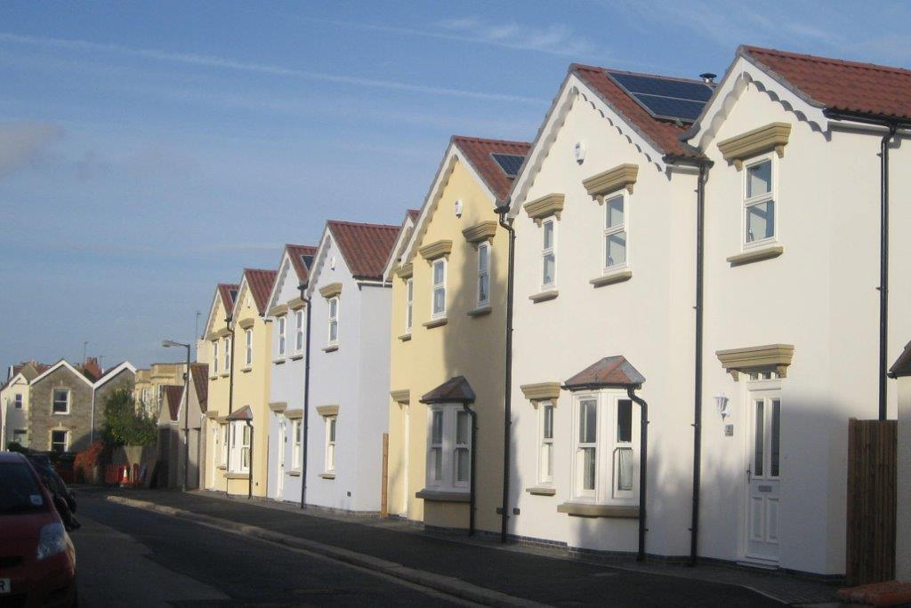 Land Market Success, Arundel Road After Development, row of houses