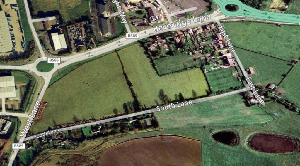 Land Market, Coalville Before Development, Map of site,