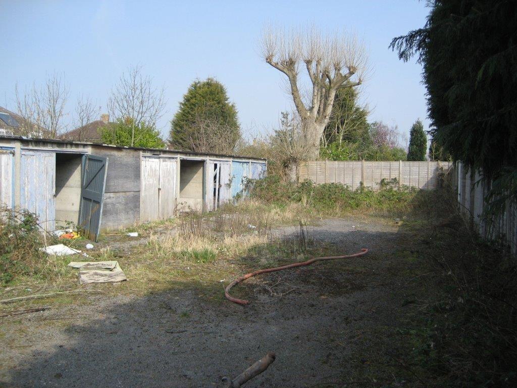 Land Market Case Study, Success Story, Little Withey Before Development, garage plot,